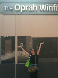 Maria in front of Oprah studios
