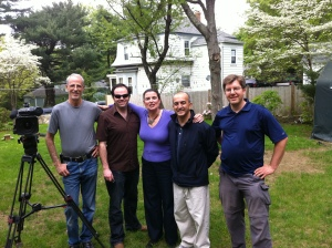 Me and the Oprah Show camera crew who came to our house in Holliston