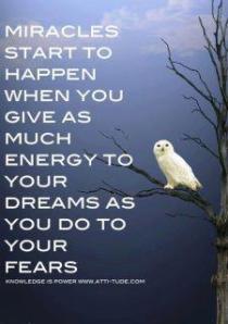 !!!!!dreams vs fears