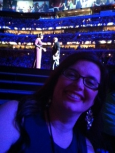 Me in Chicago as a guest on THE OPRAH SHOW. Oprah was in the background! :)
