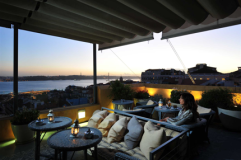 Café: with a viewThe top floor terrace at Bairro Alto HotelPraça Luís de Camões 2 1200-243 LisboaHere you can fall in love with the city. This place has one of the best views over the Tagus River and the 25 Abril Bridge. Visit this terrace in the afternoon, to witness the sunset from that spot. It´s just beautiful. The hotel is located in one of my favorite areas, the Bairro Alto - a bohemian quarter, a neighborhood with art galleries, record stores, bookshops, restaurants, art schools, cafés and design shops. At night is where all the fun happens - you can find hundreds of people gathering outside. Bairro Alto is the extension of one of Lisbon's most visited areas - Chiado, and consequently this neighborhood has become a great place to go!