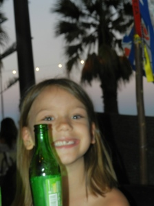 Beautiful Olivia with the setting sun! :)