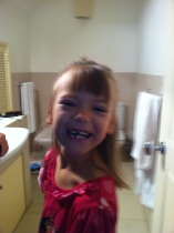 The divine Miss Olivia lost another tooth this past week! :)