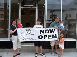 When we first opened the space we combined our businesses in the same space. Our dry cleaners is now called GREEN CLEANERS and is the only earth-friendly in town. This was about four years ago when we opened our doors in the heart of downtown Holliston!