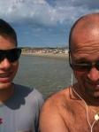 Doug and Christopher at the beach Aug 2012
