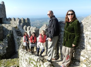 In Sintra at the Moors Castle (Castelo dos Mouros)
