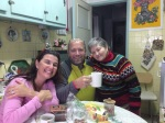 Doug, Maria with Mame in her kitchen