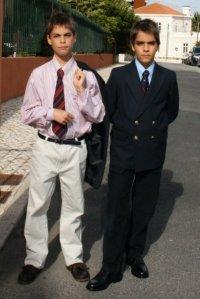 Lucas and Daniel off to Maffy's wedding 2008