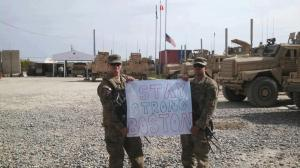 Thanks to Spc. Bigham and Spc. Anthony, currently serving in Afghanistan.