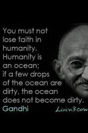 Gandhi on humanity