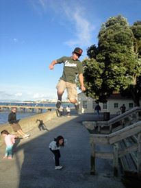 Family trip to San Francisco. (this is one of THE coolest photos I've ever taken!) Check it out! Christopher jumped about 50 times to get the right shot. We had a blast!!!