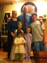 Father daughter dance with whole fam