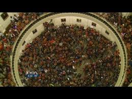 All the supporters who heard about what was happening and showed up! This is WE THE PEOPLE... SHOWING UP!