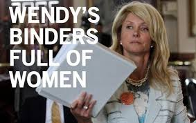 Wendy's binder full of women